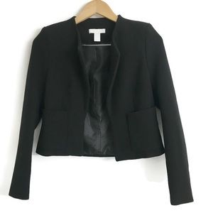 H&M black cropped blazer H0056